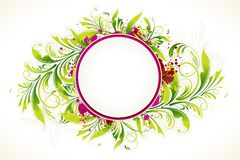 Frame with Floral Background Royalty Free Stock Photo