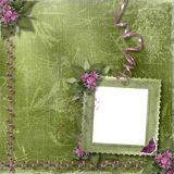 frame and floral beautiful bouque Stock Image