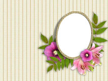 Frame and floral beautiful bouquet. Abstract background with frame and floral beautiful bouquet vector illustration