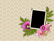 Frame and floral beautiful bouquet Stock Images
