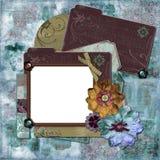 Frame floral boémio imagens de stock royalty free