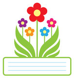 Frame floral bonito Imagens de Stock Royalty Free