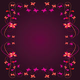 Frame with a floral border Stock Photos