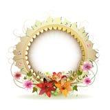 Frame floral circular Fotos de Stock