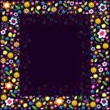 Frame floral colorido Foto de Stock