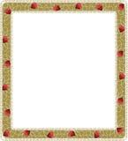 Frame floral com corações Imagens de Stock