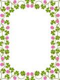 Frame floral com um trevo Foto de Stock Royalty Free
