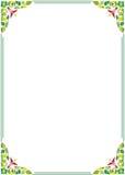 Frame floral da beira Imagens de Stock