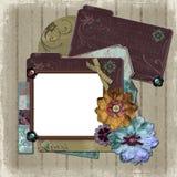 Frame floral da foto do país Imagens de Stock