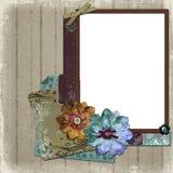 Frame floral da foto do país Fotos de Stock