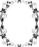 Frame floral da silhueta Fotografia de Stock