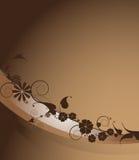 Frame floral de Brown Imagens de Stock