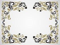 Frame floral de Grunge Fotografia de Stock Royalty Free