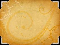 Frame floral de Grunge Imagens de Stock Royalty Free