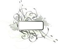 Frame floral de Grunge Imagem de Stock