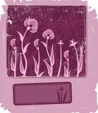 Frame floral de Grunge Ilustração Stock