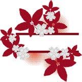 Frame floral de Grunge Fotografia de Stock