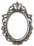 Frame floral de prata Imagens de Stock Royalty Free