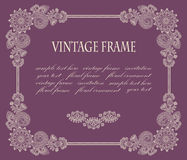 Frame with floral decoration Stock Photos