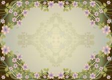 Frame floral decorativo Foto de Stock Royalty Free