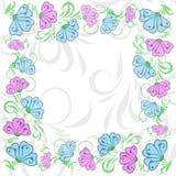 Frame floral delicado Foto de Stock Royalty Free