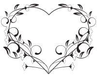 Frame floral do amor do vetor Fotografia de Stock Royalty Free
