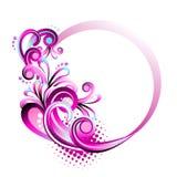 Frame floral do círculo ilustração stock