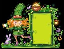 Frame floral do dia do St. Patrick Imagens de Stock