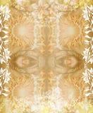 Frame floral do grunge ilustração do vetor