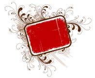 Frame floral do grunge do vetor Imagens de Stock Royalty Free