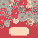 Frame floral do vetor Fotos de Stock