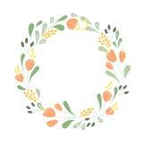 Frame floral do vetor Foto de Stock