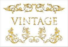 Frame floral do vintage Imagens de Stock Royalty Free