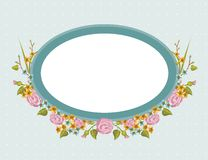 Frame floral do vintage Imagem de Stock Royalty Free