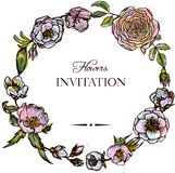 Frame floral do vintage Fotos de Stock Royalty Free