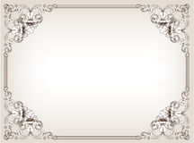 Frame floral do vintage Fotos de Stock Royalty Free