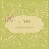 Frame floral do vintage com flores ilustração stock