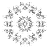 Frame floral do vintage Elemento para o projeto Fotografia de Stock