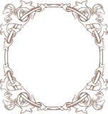 Frame floral do vintage REDONDO Fotos de Stock Royalty Free