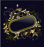 Frame floral dourado Foto de Stock