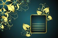 Frame floral dourado ilustração do vetor