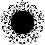 Frame floral, elemento para o projeto, vetor Fotografia de Stock Royalty Free