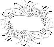 Frame floral, elemento para o projeto, vetor Imagens de Stock