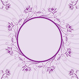 Frame floral, elemento para o projeto, vetor Imagens de Stock Royalty Free