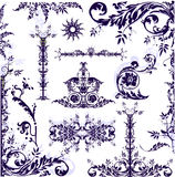 Frame floral - elementos Imagens de Stock