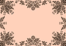 Frame with floral elements Royalty Free Stock Photos
