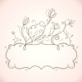 Frame  with floral elements Royalty Free Stock Images