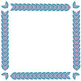 Frame from floral elements. Vector frame from floral elements Royalty Free Stock Photos