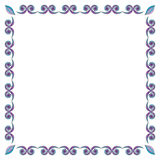 Frame from floral elements. Vector frame from floral elements Royalty Free Stock Images