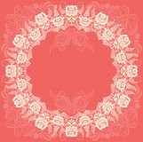 Frame of floral elements. Vector frame in gzhel Stock Photography